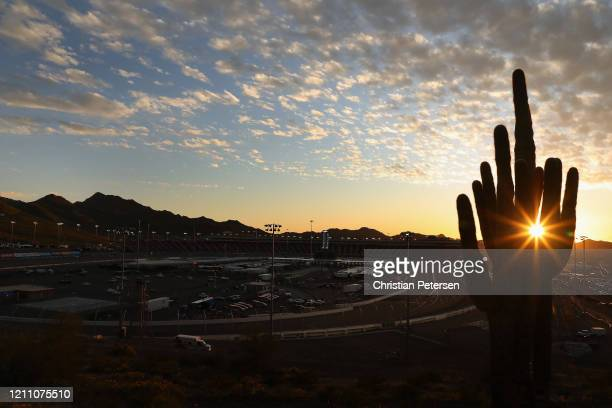 General view as the sun sets following the NASCAR Xfinity Series LS Tractor 200 at Phoenix Raceway on March 07, 2020 in Avondale, Arizona.