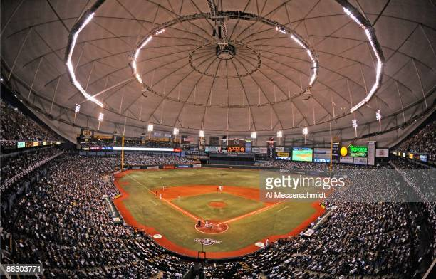 General view as the Tampa Bay Rays play the season opener against the New York Yankees on April 13 2009 at Tropicana Field in St Petersburg Florida