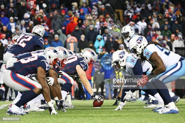 A general view as the Tennessee Titans play the New England Patriots during the AFC Divisional Playoff game against the New England Patriots at...