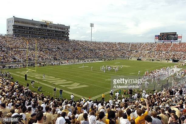 General view as the University of Central Florida hosts the Texas Longhorns during the first game at the new Bright House Networks Stadium on...