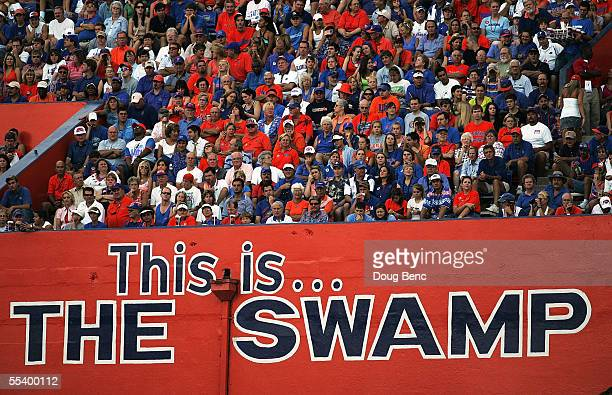 A general view as the University of Florida Gators takes on the Louisiana Tech Bulldogs at Ben Hill Griffin Stadium on September 10 2005 in...