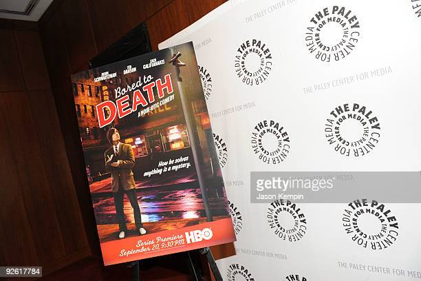 A general view at a Bored To Death panel at the Paley Center For Media on November 2 2009 in New York City