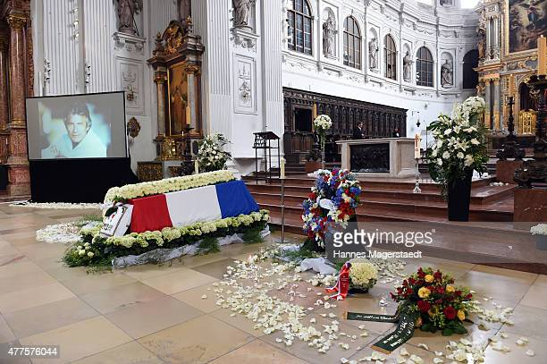 General view at a memorial service for the deceased actor Pierre Brice at Saint Michael church on June 18 2015 in Munich Germany Pierre Brice died of...