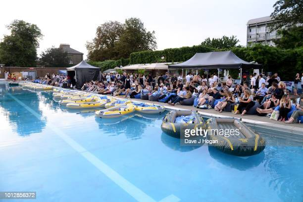 A general view at a special screening of 'The Meg' at Brockwell Lido on August 7 2018 in London England