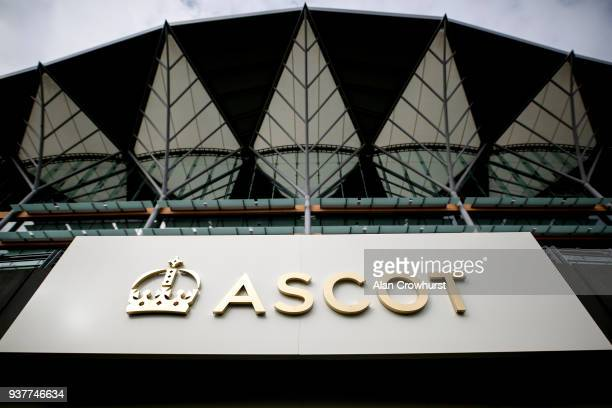 A general view at Ascot racecourse on March 25 2018 in Ascot England