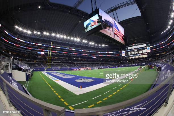 General view at AT&T Stadium before a game between the Dallas Cowboys and the Arizona Cardinals on October 19 in Arlington, Texas.