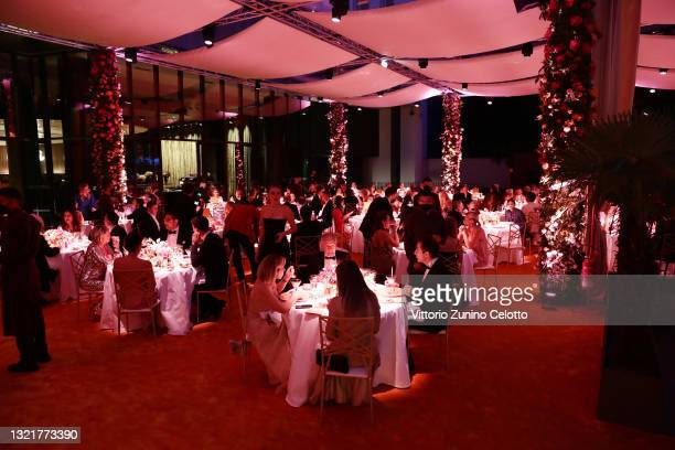 General view at Bvlgari Clients Dinner on June 04, 2021 in Milan, Italy.