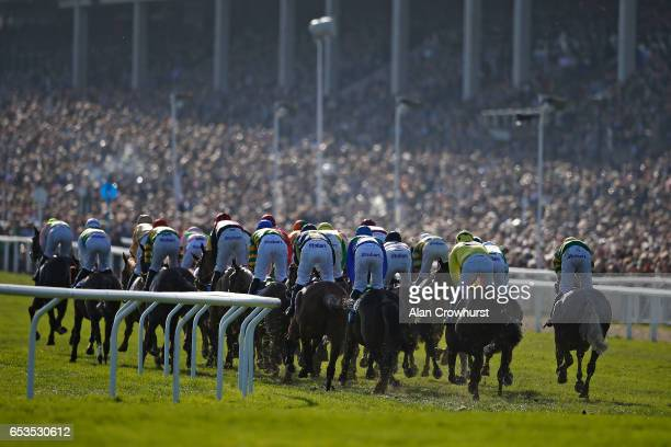 A general view at Cheltenham racecourse on day two of the festival meeting on March 15 2017 in Cheltenham England