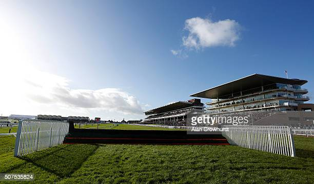 A general view at Cheltenham racecourse on January 30 2016 in Cheltenham England