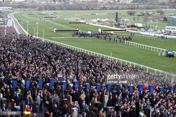 General view at Cheltenham Racecourse on March 13, 2020 in Cheltenham, England.
