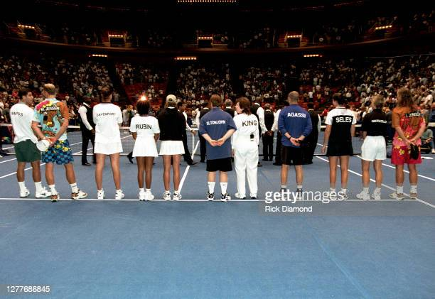 General view at Elton John Billie Jean King Smash Hits at The Summit in Houston Texas September 12 1996 Photo by Rick Diamond/Getty Images