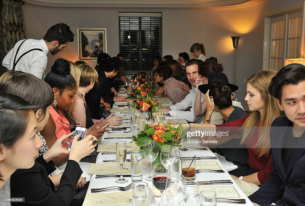 A general view at Eva Mendes Exclusively at New York & Company Spring launch dinner at Chateau Marmont on March 18, 2014 in Los Angeles, California.