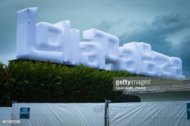 General view at first Lollapalooza Festival in France at Hippodrome de Longchamp on July 23 2017 in Paris France
