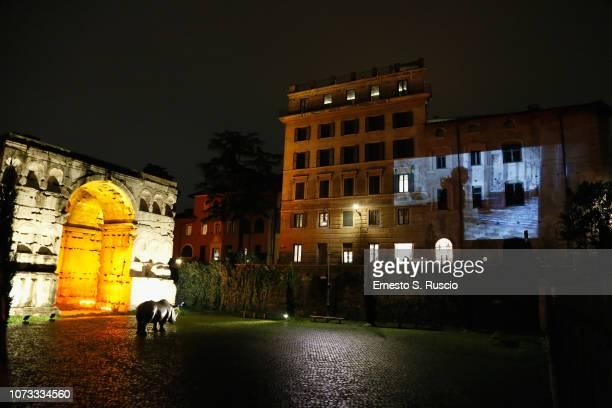 A general view at Fondazione Alda Fendi Esperimenti L'Adolescente by Michelangelo from The State Hermitage Museum on December 14 2018 in Rome Italy