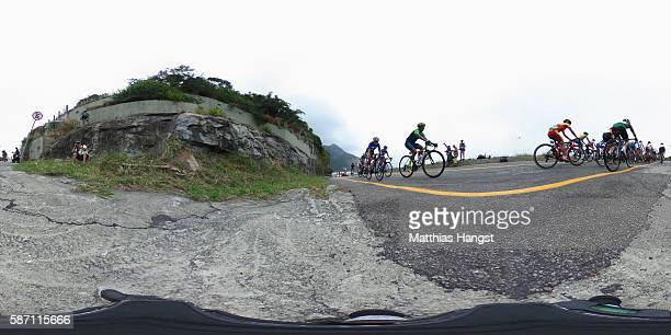 General view at Grumari during the Women's Road Race on Day 2 of the Rio 2016 Olympic Games at Fort Copacabana on August 7 2016 in Rio de Janeiro...