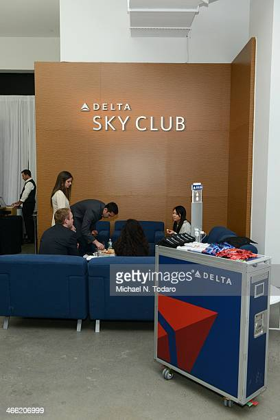 General view at 'Happy Hour Events' Delta Air Lines Popup Sky Club at The Diageo Liquid Cellar Day 3 on January 31 2014 in New York City