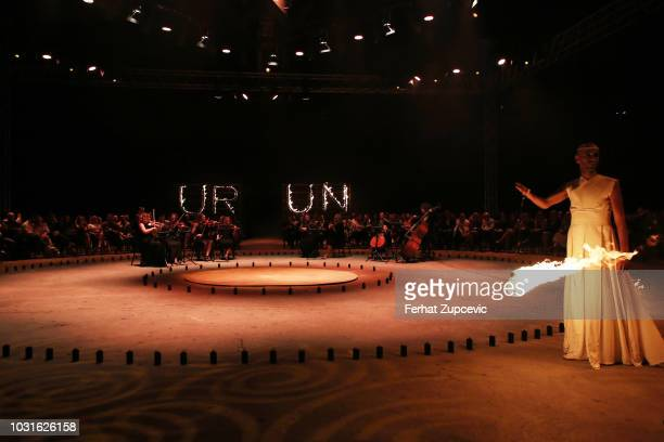 General view at he Urun show during the MercedesBenz Istanbul Fashion Week on September 11 2018 in Istanbul Turkey