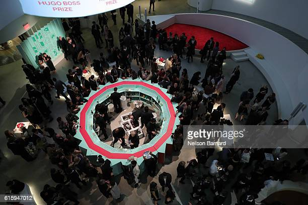 General view at HUGO BOSS and GUGGENHEIM celebration of the 20th Anniversary of the HUGO BOSS Prize at Solomon R Guggenheim Museum on October 20 2016...