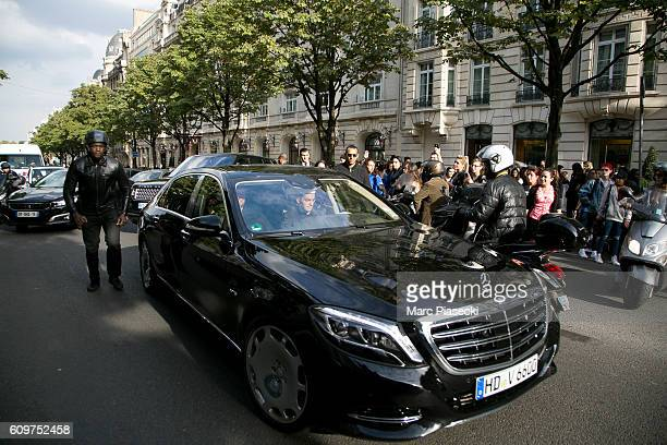A general view at Justin Bieber 's Maybach as he leaves his hotel on September 22 2016 in Paris France