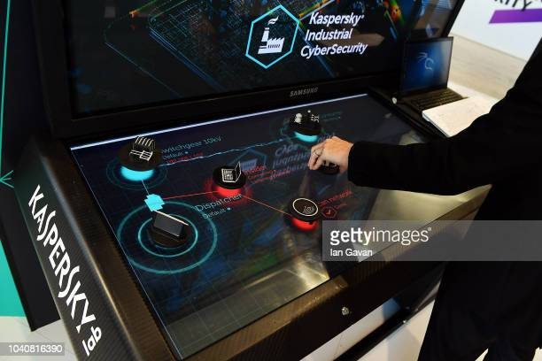 General view at Kaspersky Lab booth At Cybertech Europe 2018, the most significant conference and exhibition of cyber technologies and cyber security...