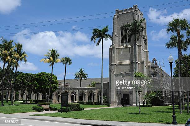 A general view at Michael Jordan and Yvette Prieto wedding Bethesdabythe Sea church on April 27 2013 in Palm Beach Florida