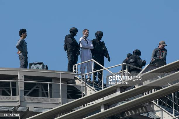 A general view at 'Mission Impossible 6 Gemini' shooting on April 8 2017 in Paris France
