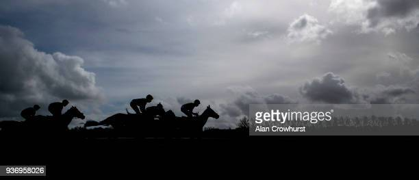 A general view at Newbury racecourse on March 23 2018 in Newbury England