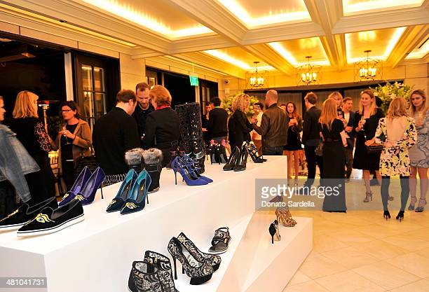 A general view at Nicholas Kirkwood dinner hosted by Emma Roberts and Jake Shears at Hotel BelAir on March 27 2014 in Los Angeles California