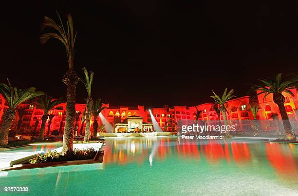 A general view at night during the grand opening of the Mazagan Beach Resort on October 30 2009 in El Jadida Morocco Kerzner International have...