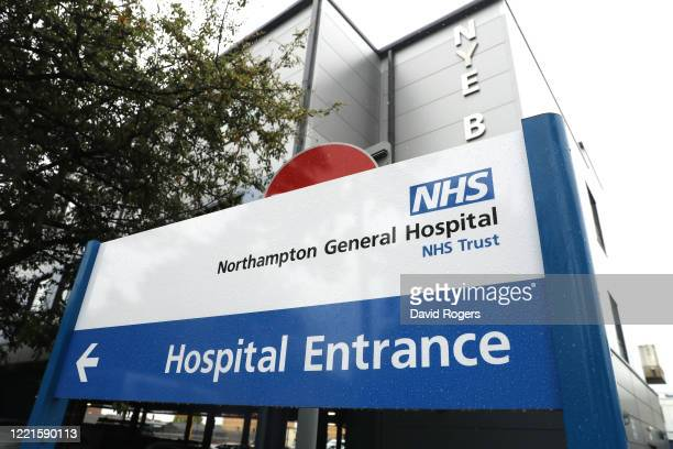 General view at Northampton General Hospital on April 28, 2020 in Northampton, England. British Prime Minister Boris Johnson, who returned to Downing...