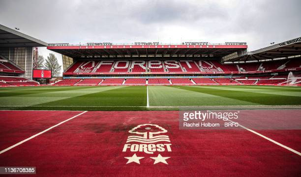 General View at Nottingham Forest the City Ground at City Ground on April 13, 2019 in Nottingham, England.