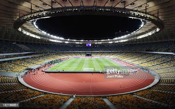 General view at Olympiyskiy Stadium on November 10 2011 in Kiev Ukraine