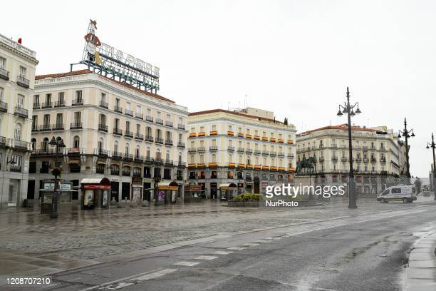 A General view at Puerta del Sol square in Madrid Spain on March 30th 2020 Spanish Prime Minister Pedro Sánchez announced on Saturday the total...