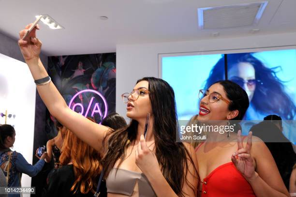 A general view at Quay Australia Blue Light Launch hosted by Music Producer DJ Chantel Jeffries on August 9 2018 in Los Angeles California