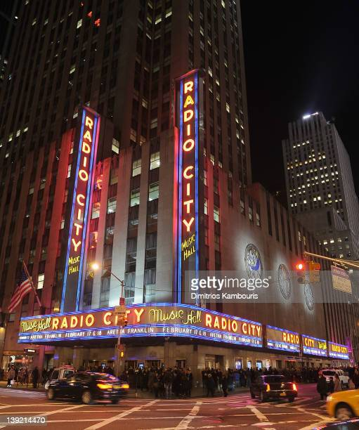 A general view at Radio City Music Hall during Aretha Franklin's concert on February 17 2012 in New York City