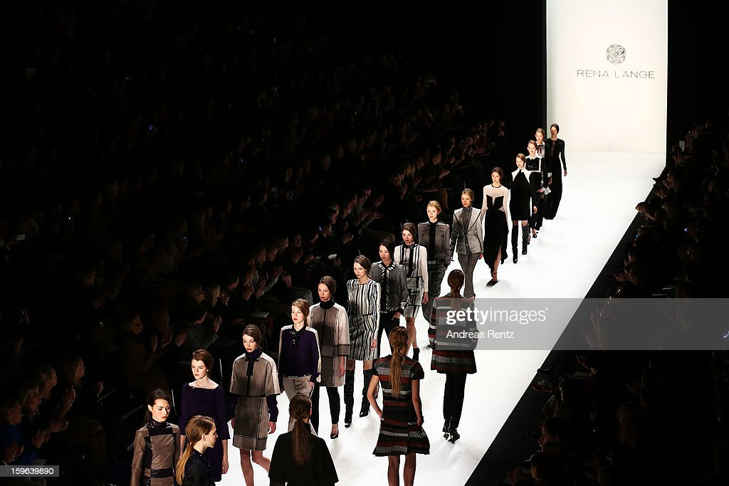 A general view at Rena Lange Autumn/Winter 2013/14 fashion show during Mercedes-Benz Fashion Week Berlin at Brandenburg Gate on January 17, 2013 in Berlin, Germany.