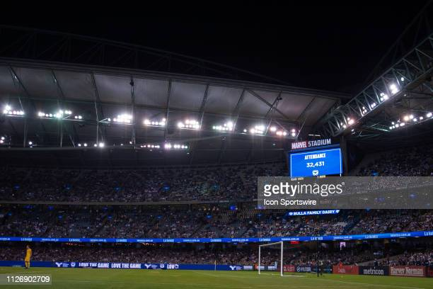 General view at round 20 of the Hyundai A-League Soccer between Melbourne City FC and Melbourne Victory on February 23, 2019 at Marvel Stadium, VIC.