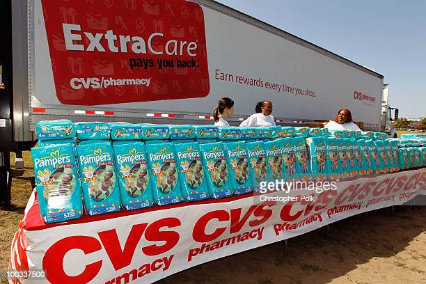 A general view at LA's Biggest Playdate hosted by CVS/pharmacy and LA Diaper Drive at Rosecrans Park on May 22 2010 in Los Angeles California The...