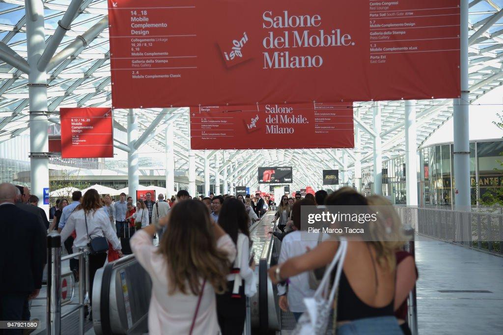 A general view at Salone Del Mobile during Milan Design Week at ...