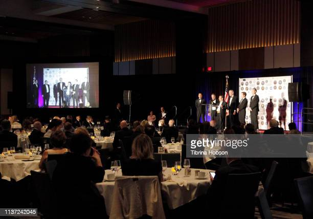 A general view at the 16th annual 'Gathering for Cure' black tie awards gala of Brain Mapping Foundation on March 16 2019 in Los Angeles California