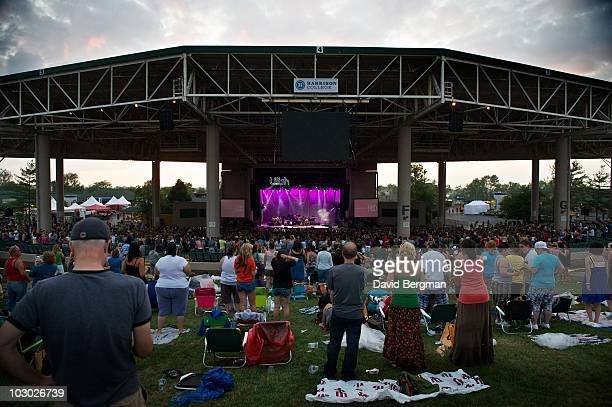General view at the 2010 Lilith Fair at Verizon Wireless Music Center on July 20 2010 in Noblesville Indiana