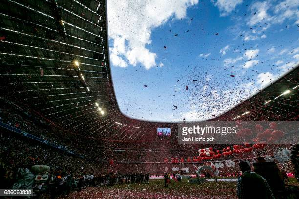 A general view at the alien arena after the Bundesliga match between Bayern Muenchen and SC Freiburg at Allianz Arena on May 20 2017 in Munich Germany