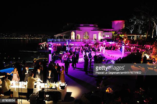 A general view at the amfAR Cinema Against AIDS 2009 after party at the Hotel du Cap during the 62nd Annual Cannes Film Festival on May 21 2009 in...