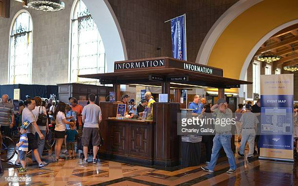 A general view at the Amtrak National Train Day at Union Station on May 11 2013 in Los Angeles California