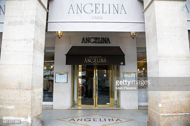 A general view at the 'Angelina' tea room on October 5 2015 in Paris France