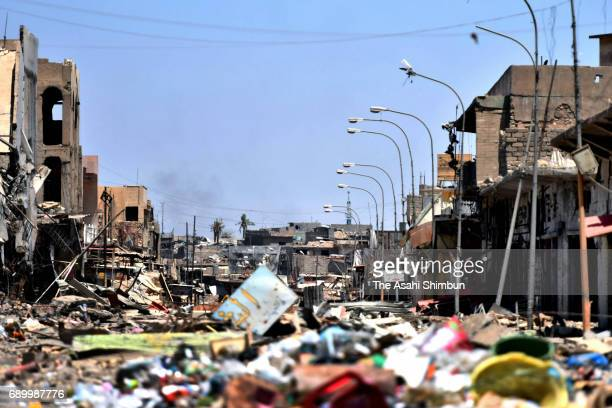 A general view at the area freed from the Islamic States on May 24 2017 in Mosul Iraq