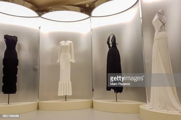 A general view at the Azzedine Alaia 'Je suis couturier' exhibition on July 5 2018 in Paris France