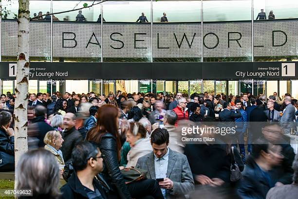 A general view at the Baselworld 2015 on March 20 2015 in Basel Switzerland