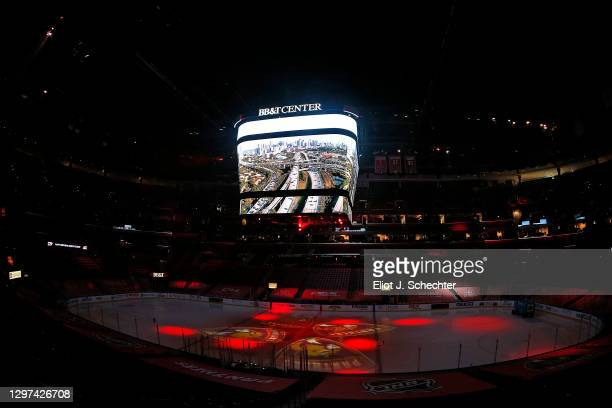 General view at the BB&T Center prior to the game between the visiting Chicago Blackhawks and the Florida Panthers on January19, 2021 in Sunrise,...