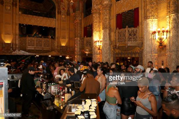 General view at the Blxst & Bino Rideaux 'Sixtape 2' release event at The Theatre at Ace Hotel on July 15, 2021 in Los Angeles, California.